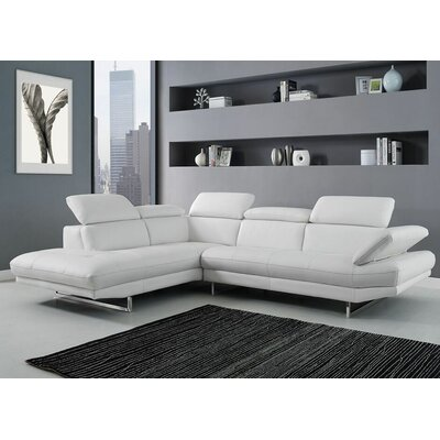 Gridley Sectional Upholstery: White