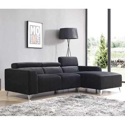 Talus Sectional Upholstery: Black