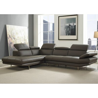Gridley Sectional Upholstery: Dark Gray