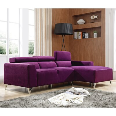 Talus Sectional Upholstery: Purple