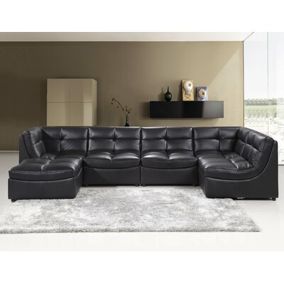 Laquecia Modular Sectional Upholstery: Black