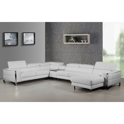 Coalpit Heath Leather Reversible Chaise Sectional