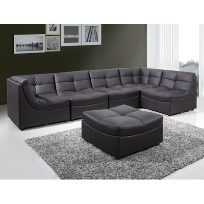 Laquecia Modular Sectional Upholstery: Brown