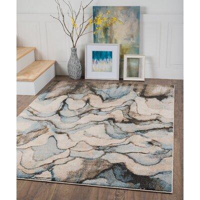 Kirkwood Blue/Gray Area Rug Rug Size: 2 x 3