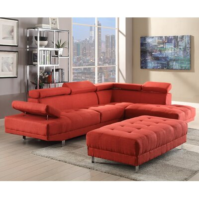 Blangkejeren Sectional Upholstery: Fabric-Red