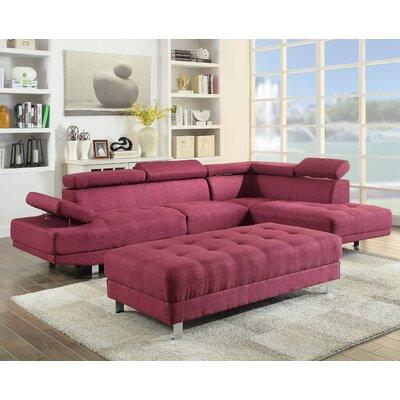 Blangkejeren Sectional Upholstery: Fabric-Berry