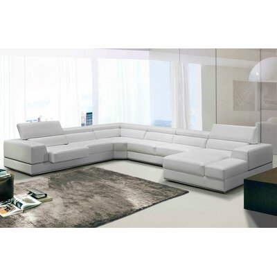 Coalpit Heath Modern U-Shaped Leather Sectional