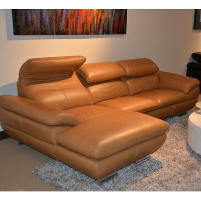 Coalpit Heath Genuine Leather L-Shaped Sectional