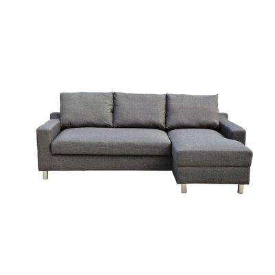Lainey Sectional Sofabed Grey-Right Facing Orientation: Right Hand Facing