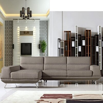Gavrilin Sectional Upholstery: Taupe, Orientation: Right Hand Facing
