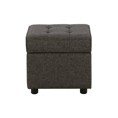 Littrell Square Storage Ottoman Upholstery: Gray Linen