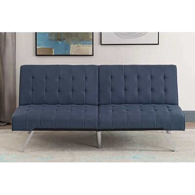 Littrell Convertible Sofa Upholstery: Navy