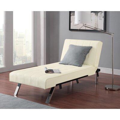 Littrell  Convertible Chaise Lounge Upholstery: Vanilla