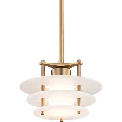 Isabela 1-Light LED Geometric Pendant Finish: Aged Brass, Size: 66.5 H x 11.75 W x 11.75 D