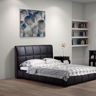 Forbes Upholstered Panel Bed Size: Queen, Color: Black WADL3193 26686254