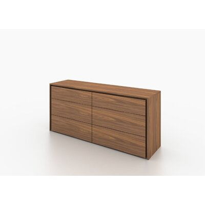 Erwin 6 Drawer Dresser Finish: Walnut
