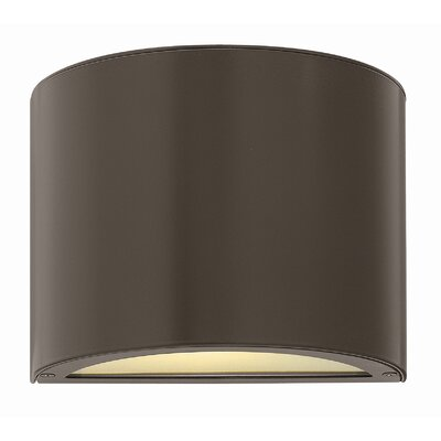 Adele 1-Light Flush Mount Finish: Bronze, Bulb Type: Incandescent