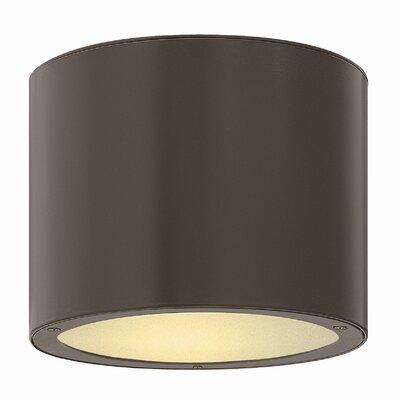 Adele 1-Light Flush Mount Finish: Bronze, Bulb Type: Incandescent