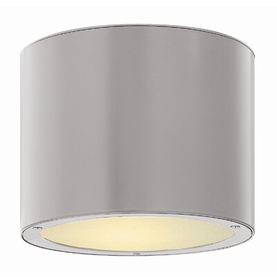 Adele 1-Light Flush Mount Finish: Titanium, Bulb Type: Incandescent