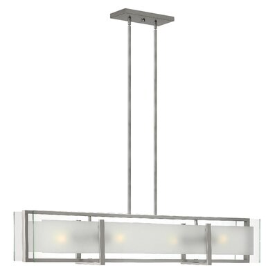 Frances 4-Light Shaded Chandelier Finish: Brushed Nickel