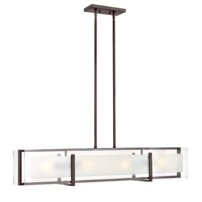 Frances 4-Light Shaded Chandelier Finish: Oil Rubbed Bronze