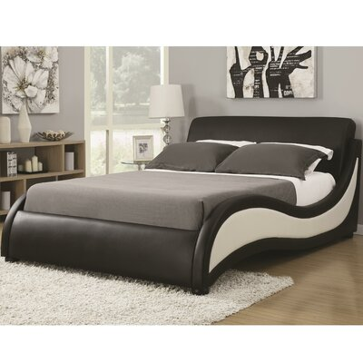 Alma Upholstered Platform Bed Size: King