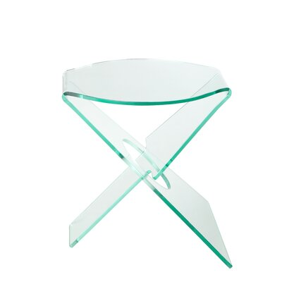 Hirschman End Table Color: Clear