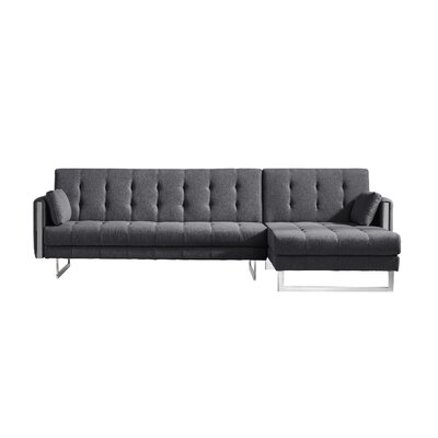 Diamond Modular Sectional Upholstery: Gray, Orientation: Right Hand Facing