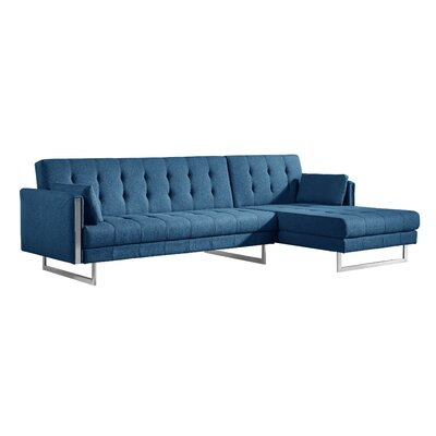 Diamond Sectional Upholstery: Blue, Orientation: Right Hand Facing