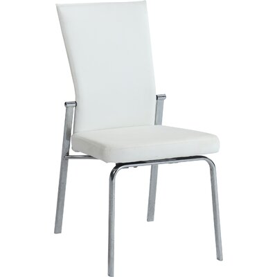 Molly Side Chair (Set of 2) Side Chair Upholstery: White
