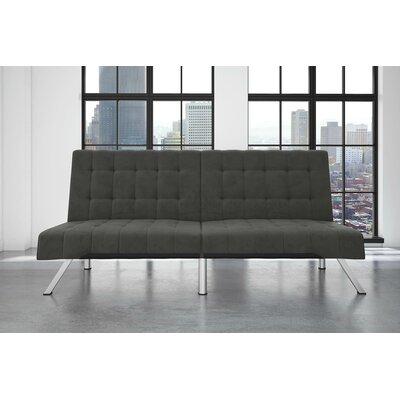 Littrell Velvet Convertible Sofa Upholstery: Gray