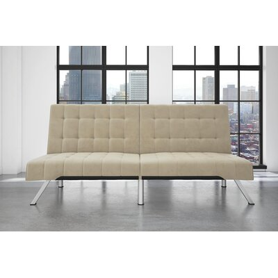 Littrell Velvet Convertible Sofa Upholstery: Tan
