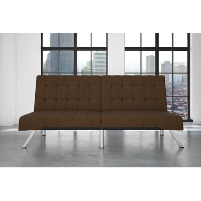 Littrell Convertible Sofa Upholstery: Brown