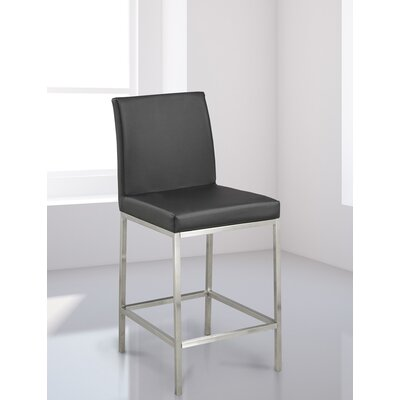 Burris Bar Stool Upholstery: Black