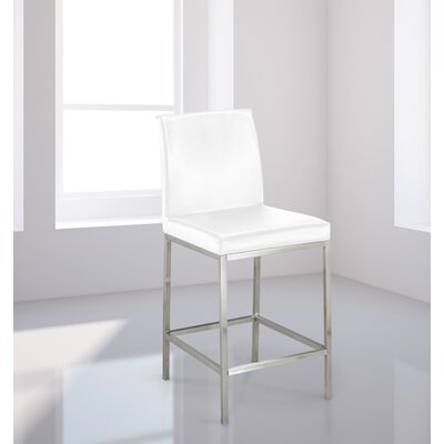 Burris Bar Stool Upholstery: White