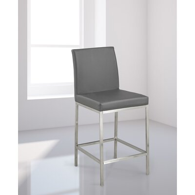 Burris Bar Stool Upholstery: Gray