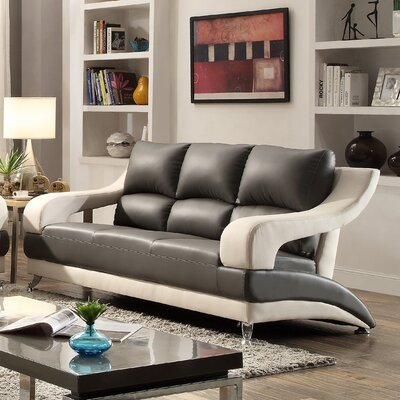 Terence Sofa Upholstery: Gray Seat/White Arms