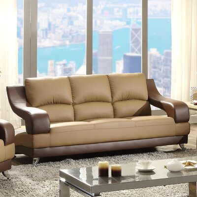 Palice Sofa Upholstery: Saddle Seat/Brown Arms