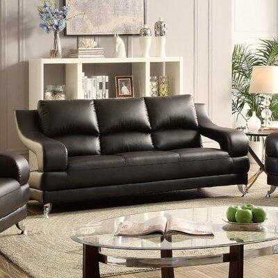 Palice Sofa Upholstery: Black
