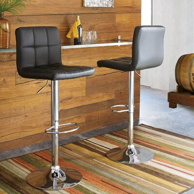 Edith Adjustable Height Swivel Bar Stool (Set of 2)