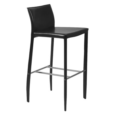 Earhart 30 Bar Stool Upholstery: Black