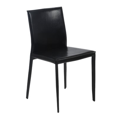 Aiyana Leather Guest Chair Upholstery: Black Leather