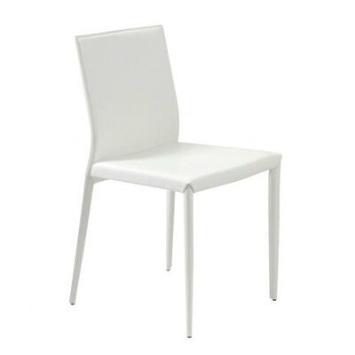 Arambula Leather Guest Chair Upholstery: White Leather