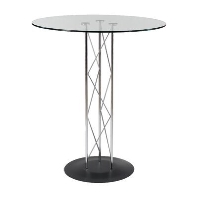 Berlanga Round Dining Table with Tempered Glass Top