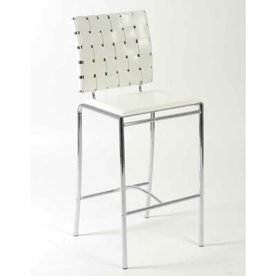 Amundsen Contemporary 26 Bar Stool Upholstery: White
