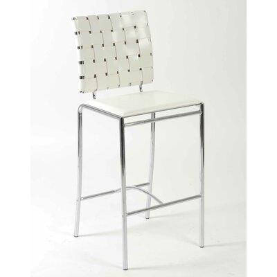 Amundsen Contemporary 26 Bar Stool Upholstery: White