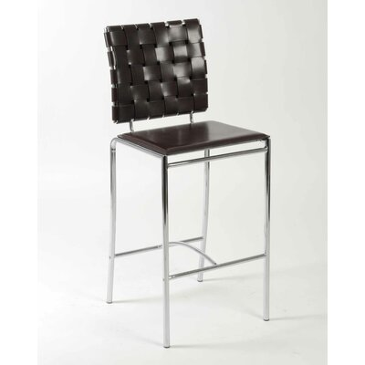 Amundsen Contemporary 26 Bar Stool Upholstery: Brown