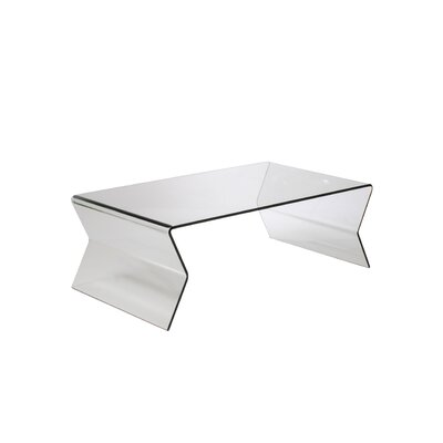 Mariyah Glass Coffee Table in Clear