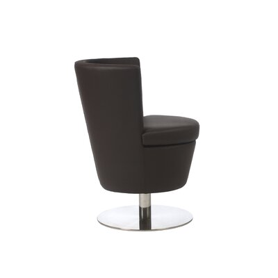 Carolyn 5 lbsSquire Barrel Chair in Brown Finish: Brown
