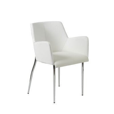 Maliah 4L-Base Armchair Finish: White